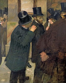 At the Stock Exchange, c.1878-79 Canvas Print
