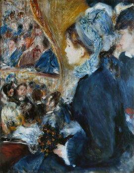 At the Theatre (La Premiere Sortie), 1876-7 Canvas Print