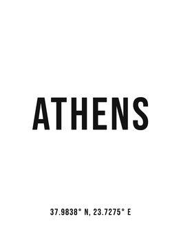 Athens simple coordinates Canvas Print