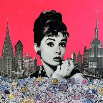 Audrey Hepburn, 2015, Canvas Print