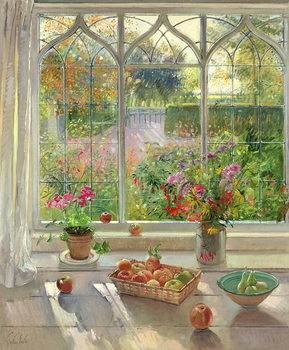 Autumn Fruit and Flowers, 2001 Canvas Print