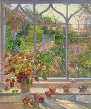 Autumn Windows, 1993 Canvas Print