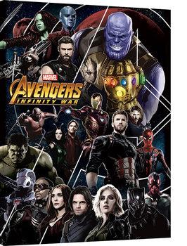 Canvas Print Avengers Infinity War - Heroes Unite