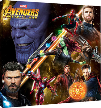 Avengers Infinity War - Space Montage Canvas Print