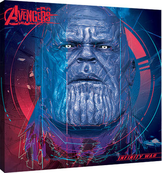 Canvas Print Avengers Infinity War - Thanos cubic Head