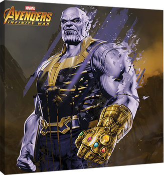 Canvas Print Avengers Infinity War - Thanos Fragmented