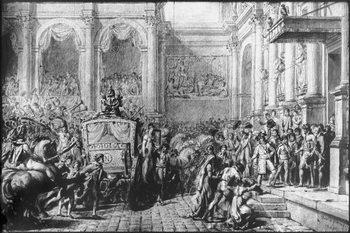 Back from the Consecration, Napoleon arriving at the Hotel de Ville, Paris, 1805 Canvas Print