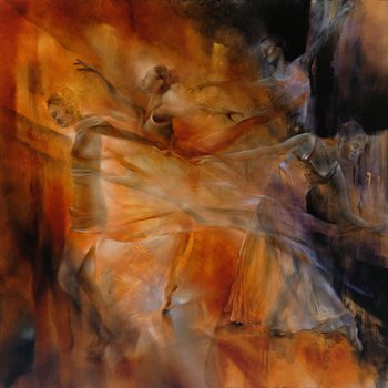 Balance: four dancers Canvas Print