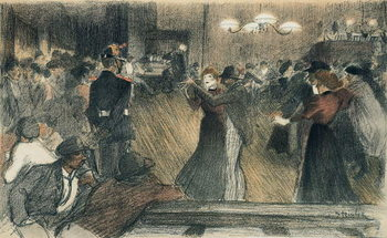 Ball at the Barriere Canvas Print