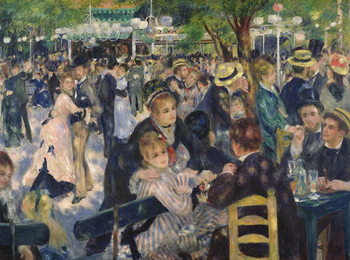Canvas Print Ball at the Moulin de la Galette, 1876