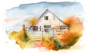 Canvas Print Barn in Pleasant Hill 2, 2016,