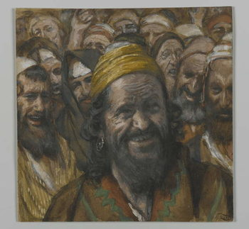 Barrabbas, illustration from 'The Life of Our Lord Jesus Christ', 1886-94 Canvas Print