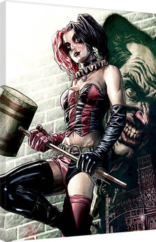 Batman - Harley Quinn Pose Canvas Print