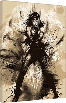 Canvas Print Batman V Superman - Wonder Woman Art