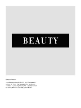 Beauty definition Canvas Print