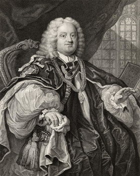 Benjamin Hoadly, engraved by Benjamin Holl (1808-84) from 'The Works of Hogarth', published 1833 Canvas Print