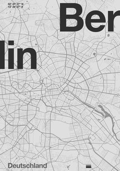 Berlin Minimal Map Canvas Print