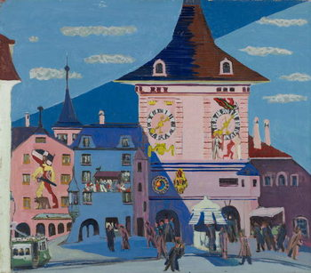 Bern with Belltower, 1935 Canvas Print