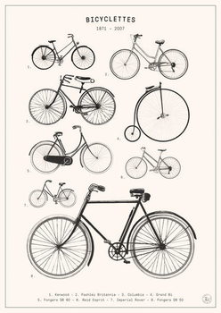 Bicyclettes Canvas Print