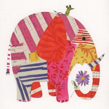 Big Elephant,Little Mouse, 2014,collage Canvas Print