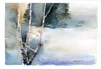 Birch in Winter, 2015, Canvas Print
