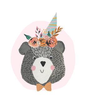 Canvas Print Birthday Bear