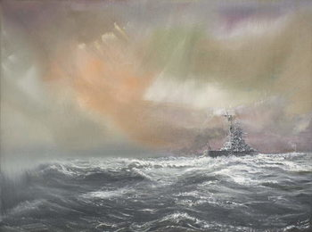Canvas Print Bismarck signals Prinz Eugen 0959hrs 24/051941, 2007,