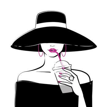 Canvas Print Black Hat