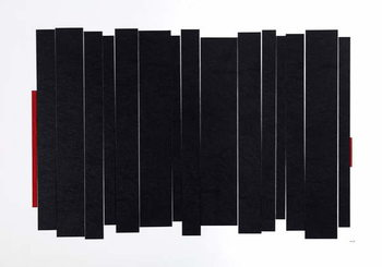 Black Long Canvas Print
