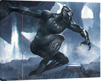 Canvas Print Black Panther - To Action