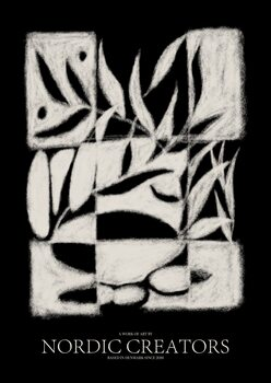 Canvas Print Black Pattern