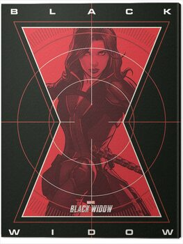 Canvas Print Black Widow - Target Acquired