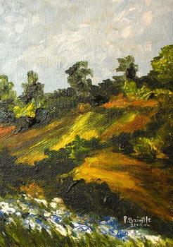 Bleuets a Trouin, 2014 Canvas Print