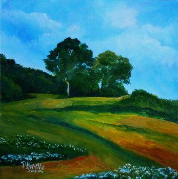 Bleuets vers Thiotte, 2016 Canvas Print