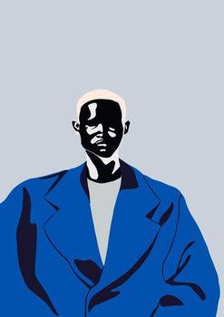 Blue Coat, 2016, Canvas Print