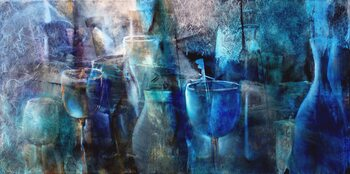 Canvas Print Blue curacao