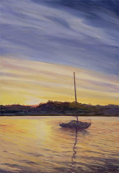 Boat at Rest, 2002 Canvas Print