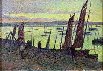 Boats at Camaret, 1893 Canvas Print