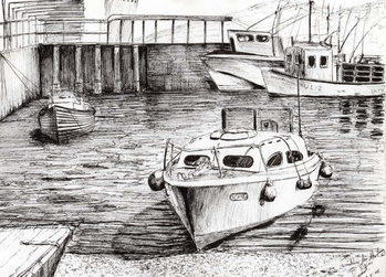 Boats at Islay Scotland, 2005, Canvas Print