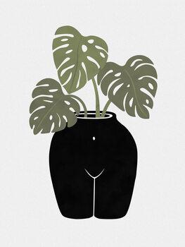 Canvas Print Body-tanical Vase