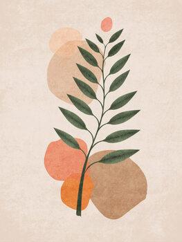 Canvas Print Boho Leaves 01