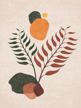 Canvas Print Boho Leaves 03