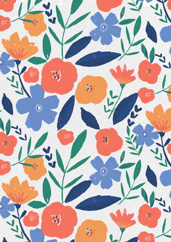 Canvas Print Bold floral repeat