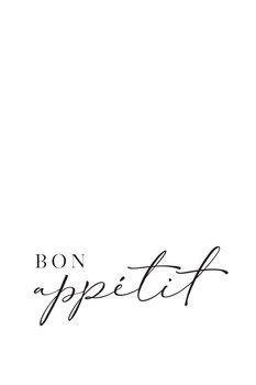 Canvas Print Bon appetit typography art