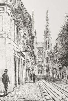 Canvas Print Bordeaux, France, 2010,