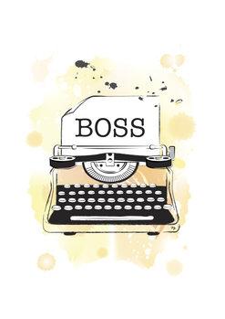 Canvas Print Boss Typeweiter