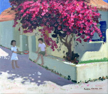 Bougainvillaea, Zante, 1999 Canvas Print