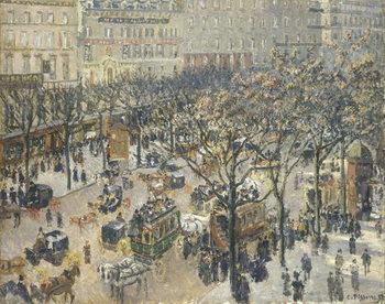 Boulevard des Italiens, Morning, Sunlight, 1897 Canvas Print