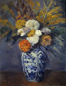 Canvas Print Bouquet of dahlias.