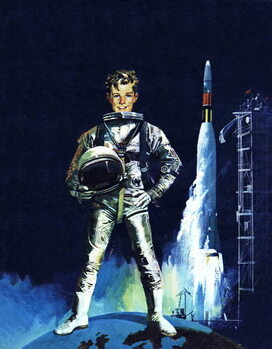 Boy in space outfit Canvas Print